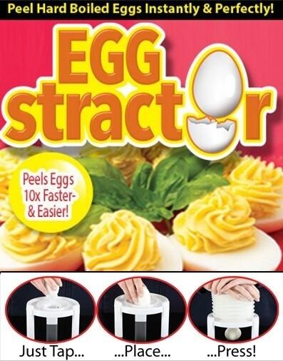 Συσκευή για τον καθαρισμό βραστών αυγών Egg Stractor