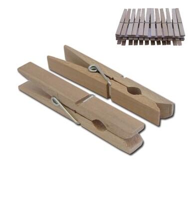 Σετ 24 ξύλινα μανταλάκια 9cm