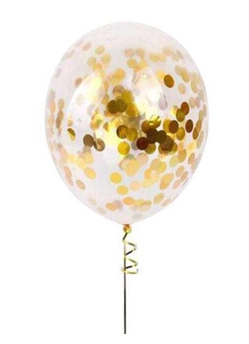 """Μπαλόνι latex με χρυσό κονφετί 13"""""""