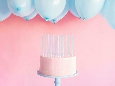 Κεριά γενεθλίων γαλάζια