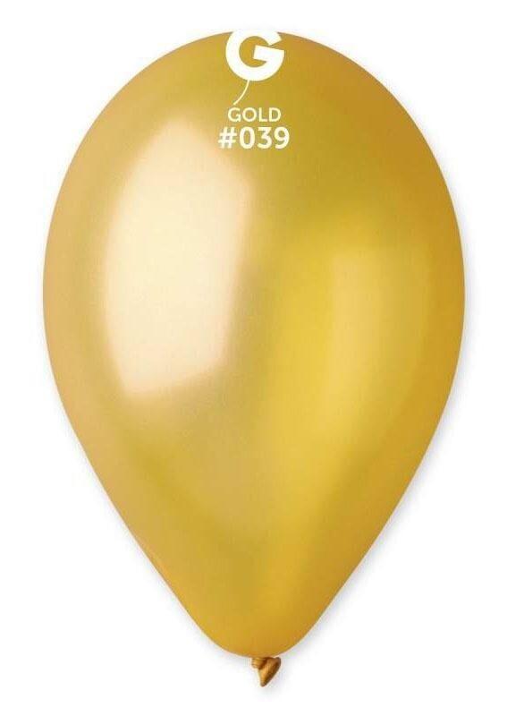 """Μπαλόνι latex χρυσό 12"""" 1τμχ"""
