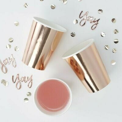 Ποτήρια πάρτυ ροζ χρυσό 6τμχ