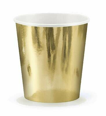 Ποτήρια πάρτυ χρυσά (6 τεμ)