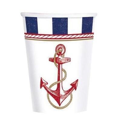 Ποτήρια Ναυτικό με άγκυρα (8 τεμ)