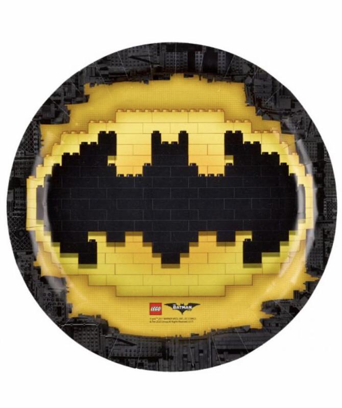 Πιάτα LEGO Batman 23εκ (8τμχ)
