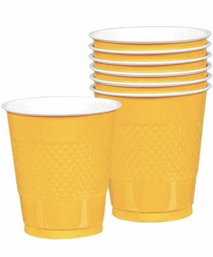 Πλαστικά ποτήρια κίτρινα 10τμχ