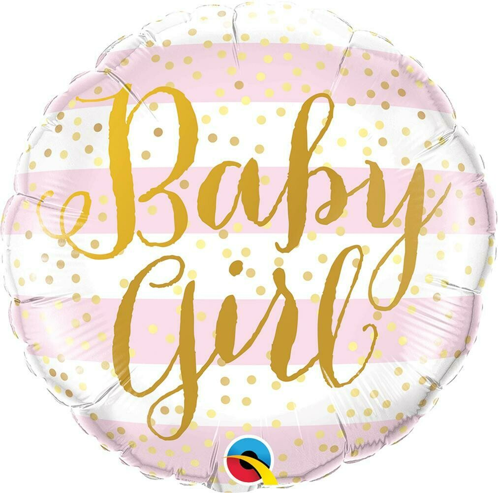 """Foil μπαλόνι BABY GIRL 18"""""""