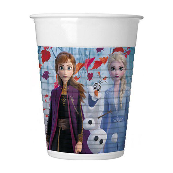 Ποτήρια πλαστικά Frozen 8τμχ