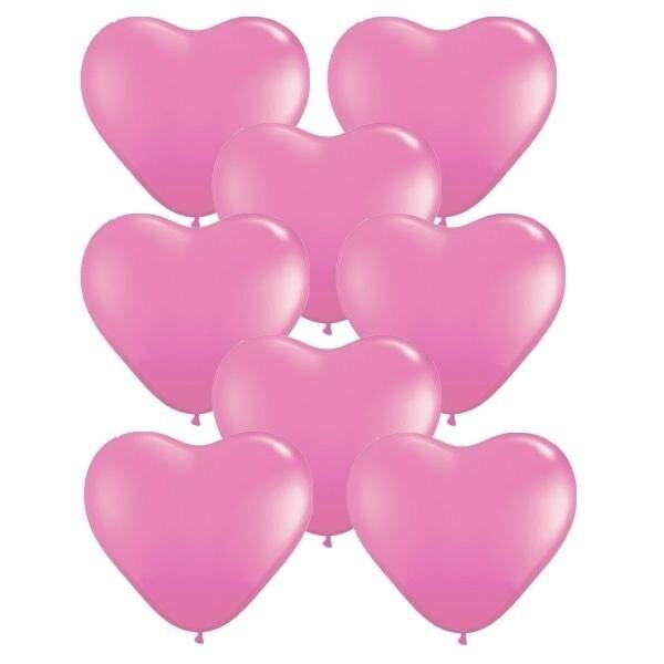 """Ροζ καρδιά latex 12"""""""