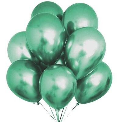 Μπαλόνια Chrome 12'' Extra Metallic Πράσινο 1τμχ