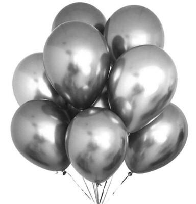 Μπαλόνια Chrome 12'' Extra Metallic Ασημί 1τμχ