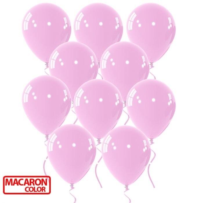 """Μπαλόνι 12"""" macaron ροζ 1τμχ"""