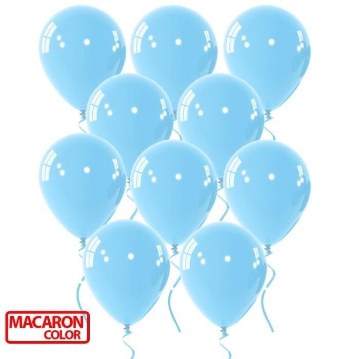 """Μπαλόνι 12"""" macaron γαλάζιο 1τμχ"""
