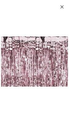 Ροζ-χρυσή διακοσμητική κουρτίνα