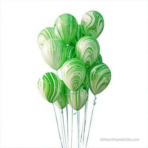 """Μπαλόνι marble πράσινο 12"""" 1τμχ"""