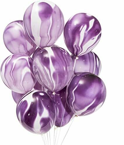 """Μπαλόνι marble μωβ 12"""" 1τμχ"""