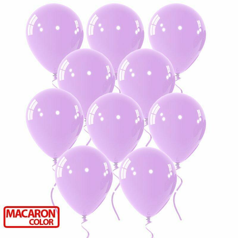 """Μπαλόνι macaron λιλά 12"""" 1τμχ"""