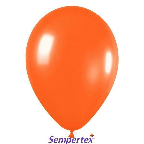 """Μπαλόνι 5"""" πορτοκαλί metallic 1τμχ"""