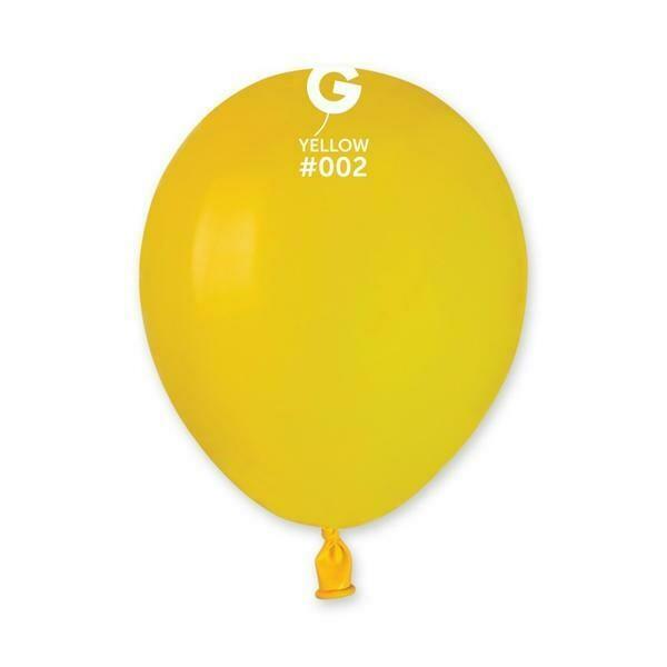 """Μπαλόνι 5"""" κίτρινο 1τμχ"""