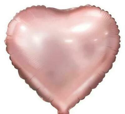 Μπαλόνι καρδιά foil ροζ παστέλ 18