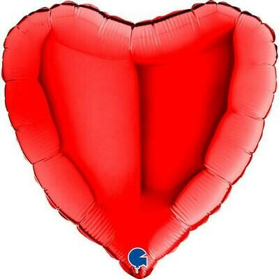 Μπαλόνι foil καρδιά κόκκινη 18