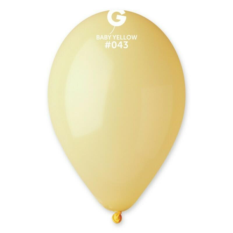 """Μπαλόνι 5"""" macaron yellow 1τμχ"""