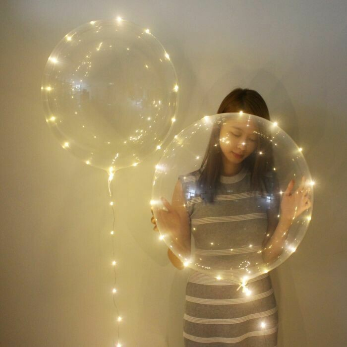 Μπαλόνι φωτιζόμενο 24 ιντσών LED λευκό