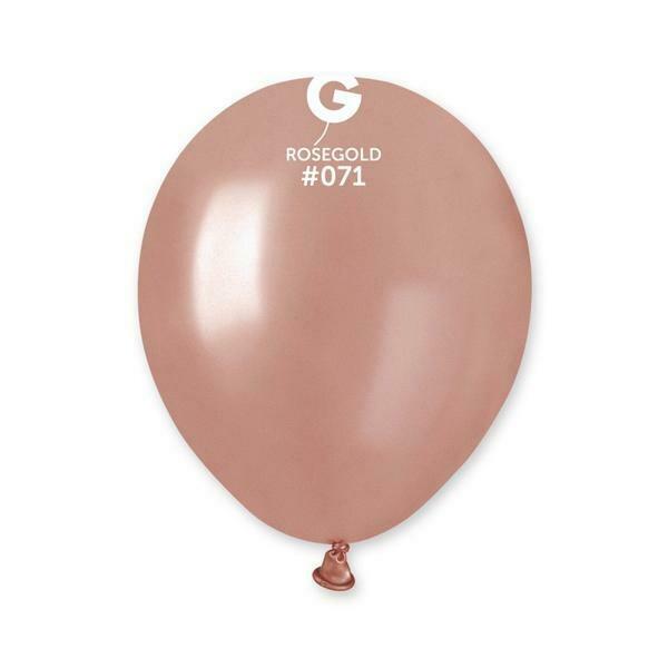 """Μπαλόνι 5"""" Ροζ-χρυσό περλέ 1τμχ"""