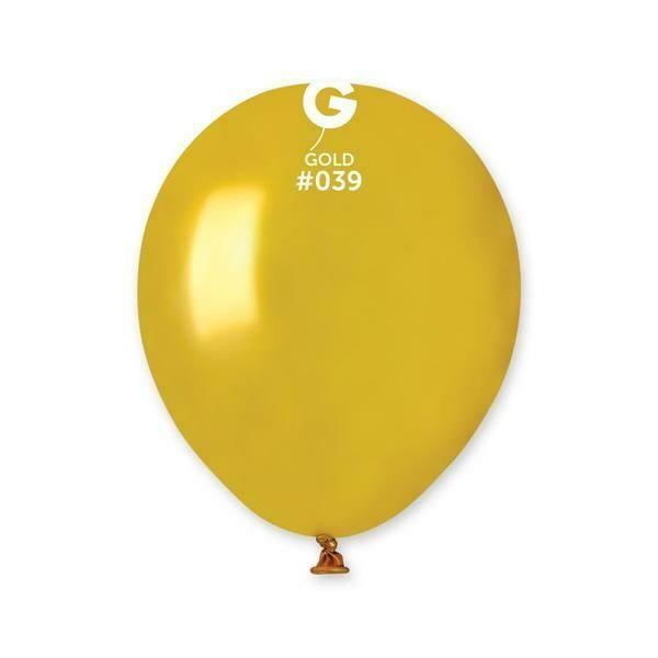 """Μπαλόνι 5"""" χρυσό περλέ 1τμχ"""
