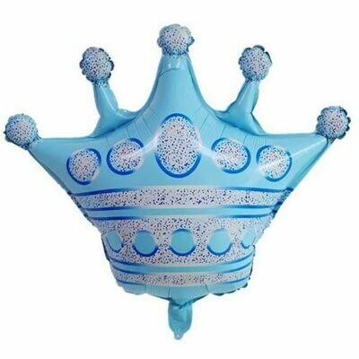 Μπαλόνι γαλάζια κορώνα foil 29