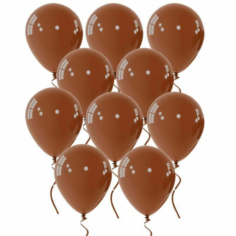 """Μπαλόνι 12"""" καφέ 1τμχ"""