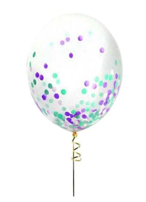 Διάφανο μπαλόνι με κομφετί 13