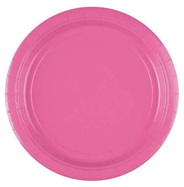 Πιάτα φαγητού Ροζ (8 τεμ)