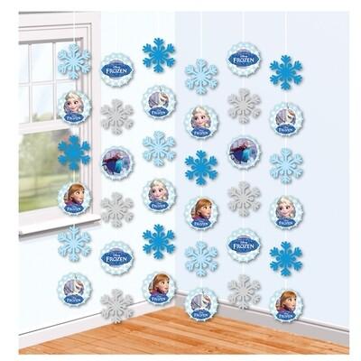 Κρεμαστές διακοσμητικές ταινίες Frozen 150cm (6τμχ)
