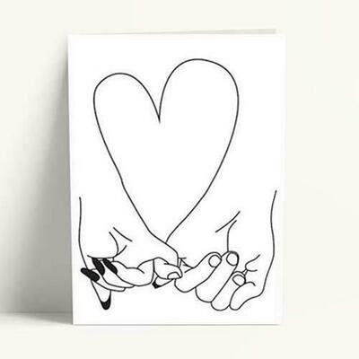 Κάρτα Βαλεντίνου Καρδιά χέρια
