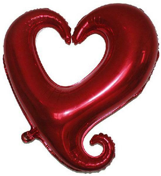 Κόκκινη καρδιά foil Supershape