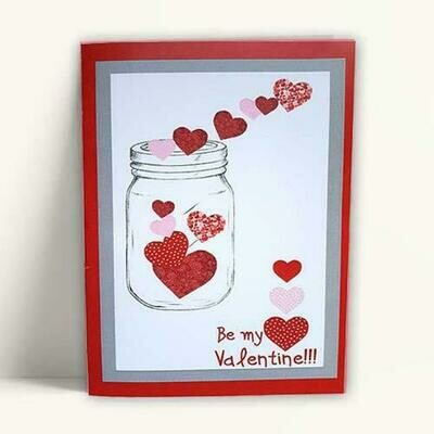 Κάρτα Βαλεντίνου Jar 'Be my Valentine'