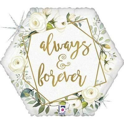 18'' Γεωμετρικό 'Αlways & Forever' Foil μπαλόνι