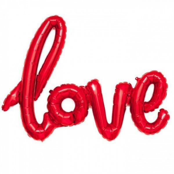 "27"" Love Κόκκινο Ενωμένη Φράση Foil Μπαλόνι"