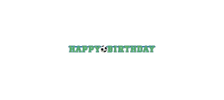 Διακοσμητικό Happy Birthday ποδόσφαιρο