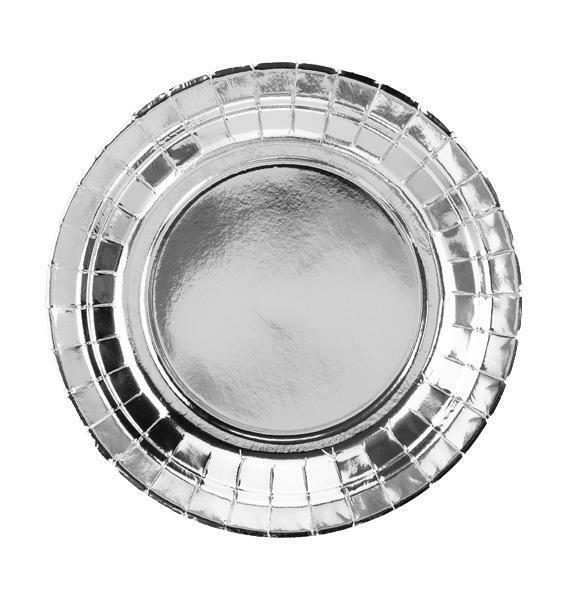 Πιάτα Ασημί (6 τεμ)