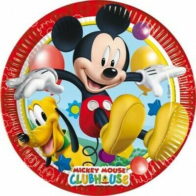 Πιάτα φαγητού Mickey Mouse (8 τεμ)