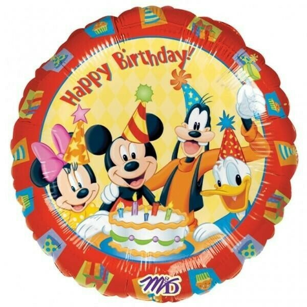 """Mickey Mouse and Friends 'Happy Birthday' Foil Balloon 18"""""""