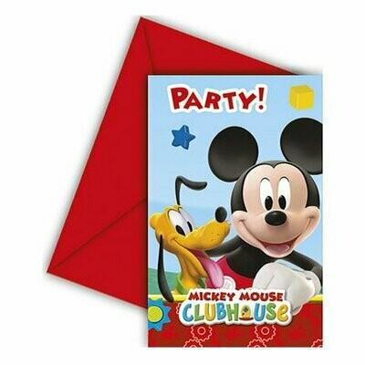Προσκλήσεις Mickey Club House 6τμχ