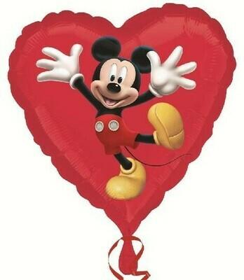 """Μπαλόνι Mickey Mouse κόκκινη καρδιά 18""""(45εκ)"""