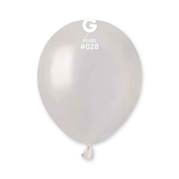 5'' Λευκό Περλέ Λάτεξ Μπαλόνι 1τμχ
