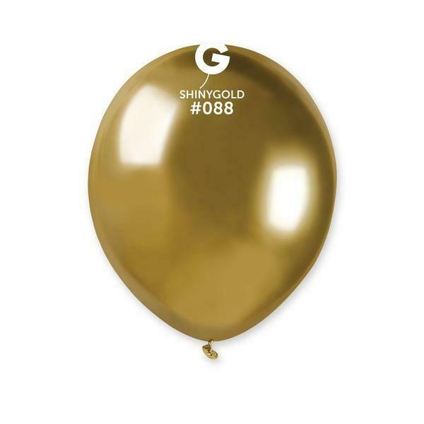 5'' Shiny Χρυσό Λάτεξ Μπαλόνι 1τμχ