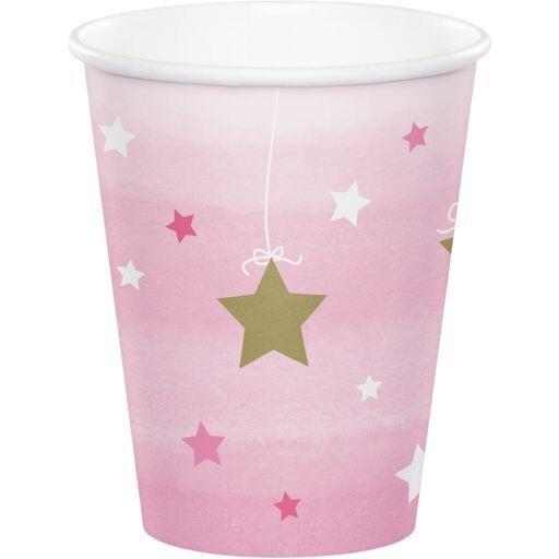"""Ποτήρια """"One Little Star Girl"""" Creative Converting (8 τεμάχια)"""