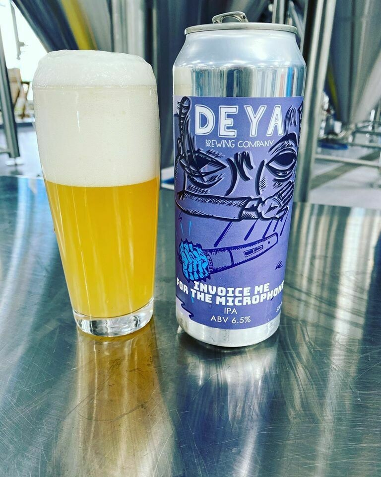 NEW DEYA 'Invoice Me For The Microphone' IPA 500ml - 6.5%