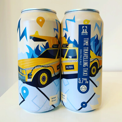 NEW Brew York 'Time Travelling Taxi' DDH Pale 440ml - 5.7%